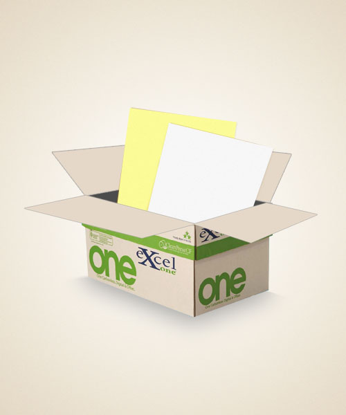8.5 x 11 Excel One digital/offset  2 PT Reverse CA/WH. 5000 sheets/case