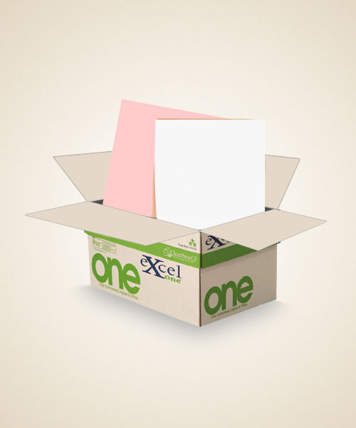8.5 X 14 Excel One Digital/Offset  2 PT Reverse.  PK/WH  5000 sheets/case