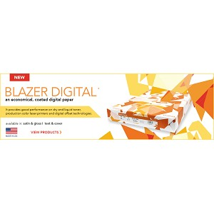 17 X 11 Blazer Digital 80# Gloss Cover 250 Sheets/PKG  750 Sheets/CTN