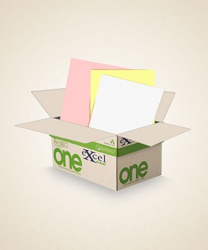 8.5 X 11 Excel One Digital/Offset  3 PT Reverse. PK/CA/WH  5000 sheets/case
