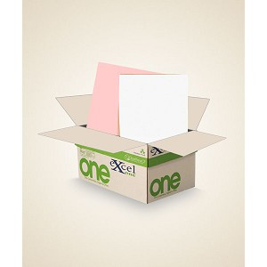 8.5 X 11 Excel One digital/offset  2 PT Reverse. PK/WH  5000 sheets/case