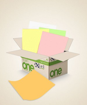 8.5 X 11 Excel One Digital/Offset  5 PT Rev GD/PK/CA/GN/WH 5000 sheets/case